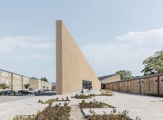 COBE progetta la Biblioteca Tingbjerg come un edificio a forma di cuneo