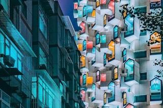 Lo strano edificio cinese con le case accatastate le une sulle altre