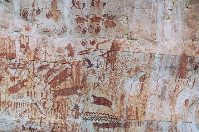 Petroglifi nel parco nazionale naturale Sierra de Chiribiquete.