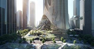 Il nuovo grattacielo futuristico di Zaha Hadid a Shenzhen ha un cuore verde
