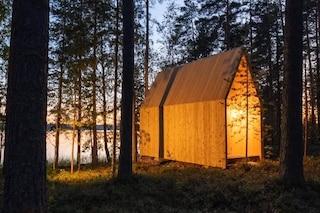 Il rifugio nel bosco è una camera da letto con vista sulla natura