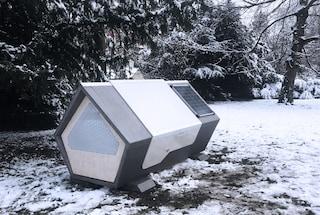 Le capsule del sonno che danno riparo ai senzatetto nelle fredde notti d'inverno