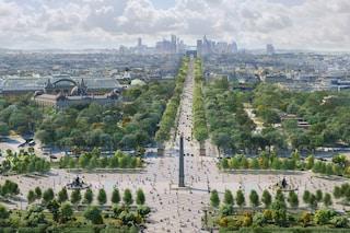 Gli Champs-Élysées di Parigi diventeranno un enorme giardino urbano dopo le Olimpiadi 2024