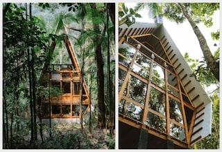 Una capanna dei sogni nella foresta brasiliana