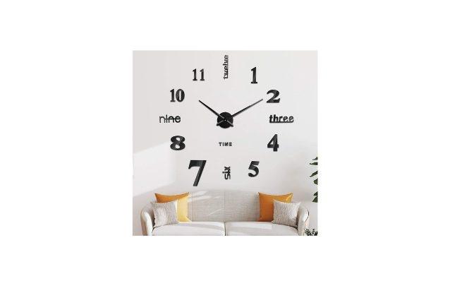 orologio da parete moderno particolare adesivo di soledi