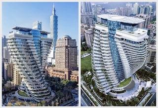 La nuova torre per l'assorbimento di carbonio è un vortice nei cieli di Taipei