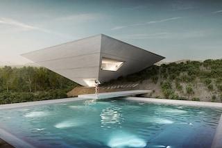 La casa vacanze da sogno ha la forma di una piramide rovesciata