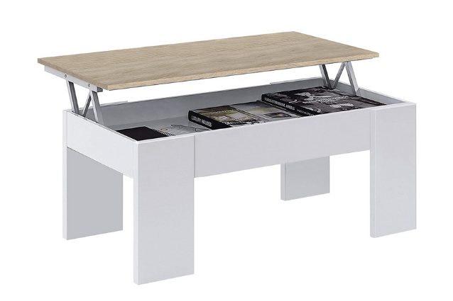 tavolino con piano rialzato