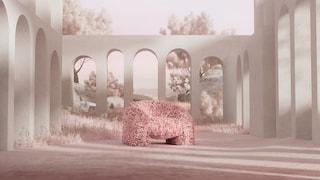 La sedia fatta da più di 30.000 petali di rose è una nuvola di relax
