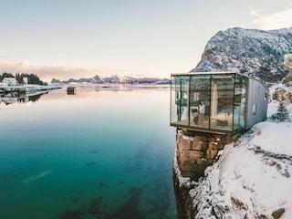 Queste cabine sul mare permettono di dormire su un'isola privata del Circolo Polare Artico