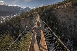 Il ponte sospeso più alto del Canada è una passerella sul canyon a 130 metri di altezza