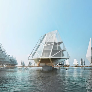 Queste case galleggianti formano una comunità autosufficiente contro il degrado biologico
