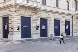 Le foto (e il nuovo logo) dell'Apple Store di Roma: quando apre
