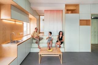 Questa casa misura solo 33 metri quadrati ma non manca di nulla
