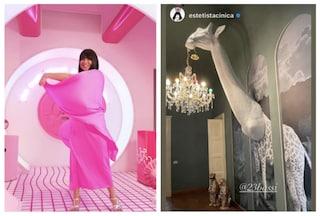 L'Estetista cinica apre le porte della sua casa di Milano: c'è anche una giraffa che spunta dal muro