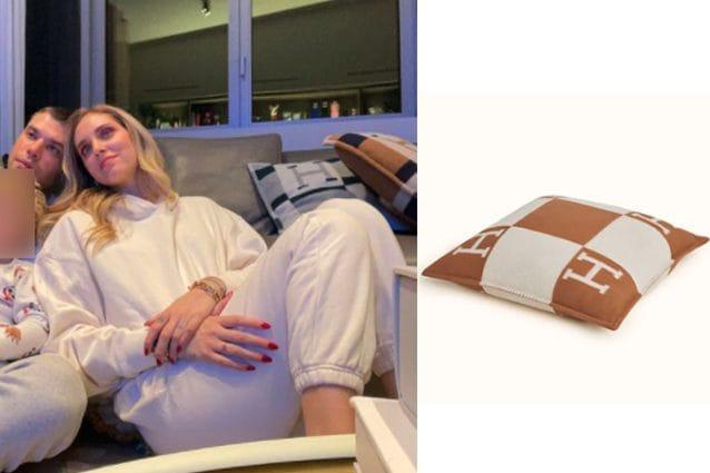 I cuscini griffati di Chiara Ferragni e Fedez: quanto costa l'accessorio per l'arredo del salotto di casa