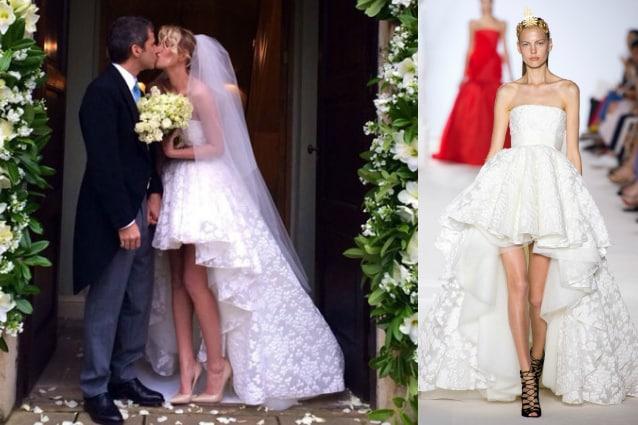 3cc817fd63ef Alessia Marcuzzi  abito da sposa corto e gambe in mostra per le ...