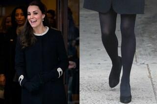 Kate Middleton a New York: il pancione nascosto e le calze coprenti (FOTO)
