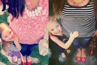 """Allison mostra la sua """"gravidanza alla moda"""" con un selfie al giorno (FOTO)"""