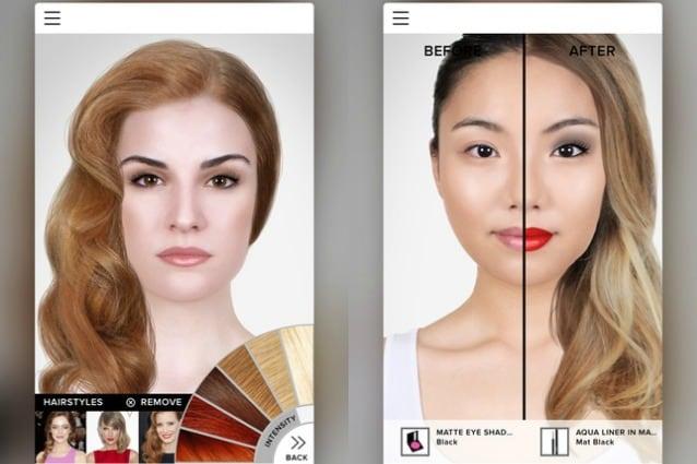 App per simulare taglio capelli