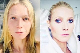 Gwyneth Paltrow senza trucco, ecco le foto prima e dopo il make up (FOTO)
