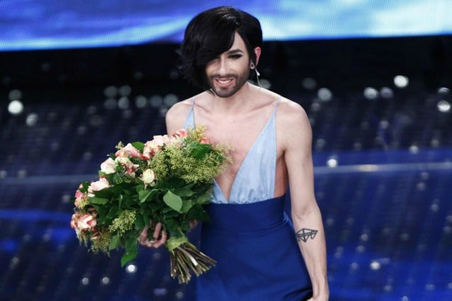Conchita Wurst e il nuovo taglio di capelli a Sanremo 2015 ...