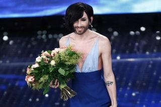 Conchita Wurst e il nuovo taglio di capelli a Sanremo 2015 (FOTO)