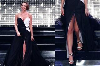 """Anna Tatangelo con lo spacco """"alla Belén"""" infiamma Sanremo (FOTO)"""