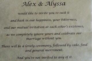 """""""Non vi voglio al mio matrimonio"""": la lettera d'odio della sposa ai suoi genitori"""