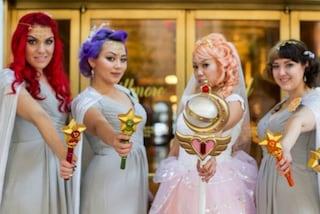 La sposa più strana al mondo: si veste da Sailor Moon per il matrimonio