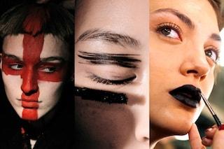 Fashion Week, i make up più bizzarri: ciglia argento e disegni sul viso (FOTO)