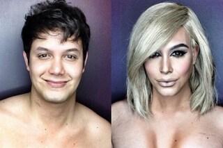 Il nuovo look di Kim provato da un uomo: la trasformazione con il make up (FOTO)