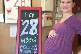 Dà alla luce 5 gemelli in una volta: Danielle è una mamma da record