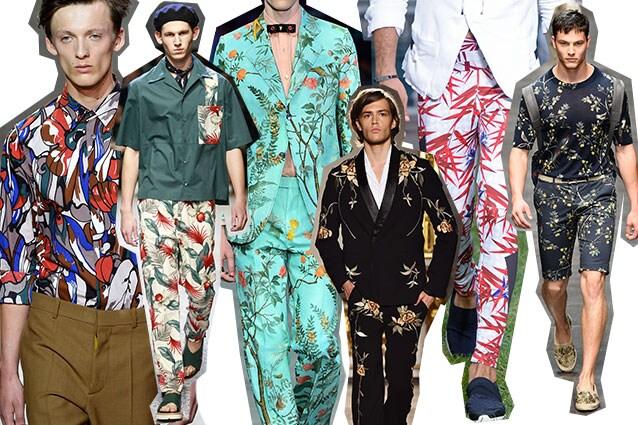 Da sinistra: Marni, Antonio Marras, Gucci, Christian Pellizzari, Dirk Bikkembergs, Dolce e Gabbana