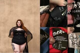"""""""La taglia non mi definisce"""": Tess mostra l'incoerenza delle etichette degli abiti"""
