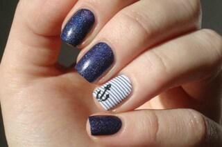 Le unghie della settimana: sailor manicure (FOTO)