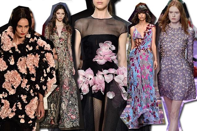 da sinistra Chanel, Ralph e Russo, Giambattista Valli, Atelier Versace, Dior
