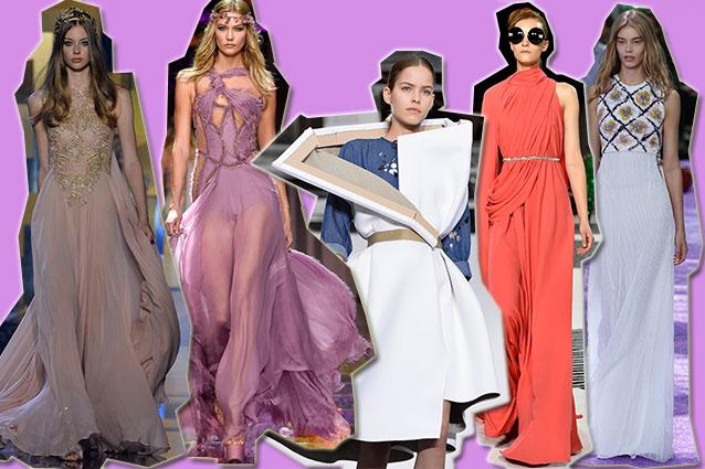 da sinistra Elie Saab, Atelier Versace, Viktor e Rolf, Giambattista Valli, Dior