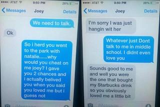 Il ragazzo la tradisce con la sorella e i suoi messaggi diventano virali sul web