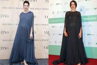 Luisa Ranieri e Kasia Smutniak stesso vestito per coprire il pancione (FOTO)