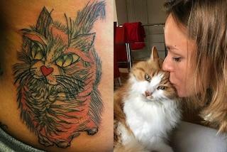 Il nuovo tatuaggio di Federica Pellegrini: lo ha fatto per dire addio alla sua gatta