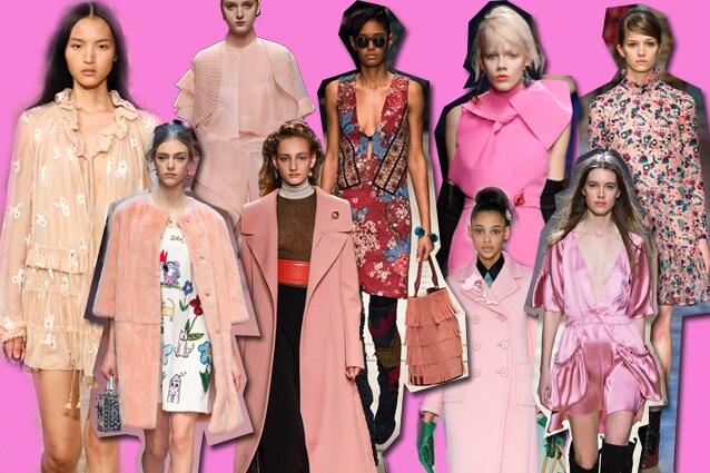 da sinistra Chloé, Dolce e Gabbana, N.21, Marni, Burberry Prorsum, MSGM, Prada, Kristina Ti, Erdem