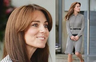 Dopo il parto Kate Middleton cambia stile: taglio nuovo e spacco