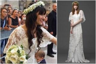 Elisa, sposa romantica e hippie, ecco l'abito del matrimonio (FOTO)