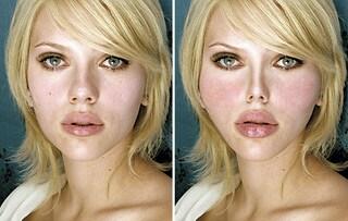 Labbra gonfie e zigomi troppo alti: ecco come sarebbero le star con qualche ritocchino