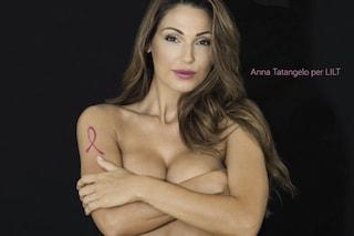 Anna Tatangelo nuda per Lilt: troppo sexy per parlare di cancro al seno