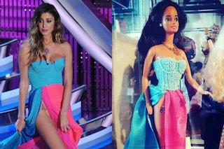 Belén Rodriguez diventa un Barbie: la bambola indossa l'abito che mostra la farfallina