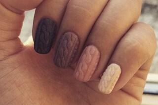 Le unghie della settimana: manicure ad effetto maglia (FOTO)