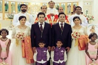 Due fratelli gemelli sposano due sorelle gemelle nello stesso giorno