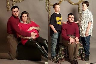 """Cartoline di Natale con una """"finta"""" famiglia: così fa uno scherzo ai parenti lontani"""